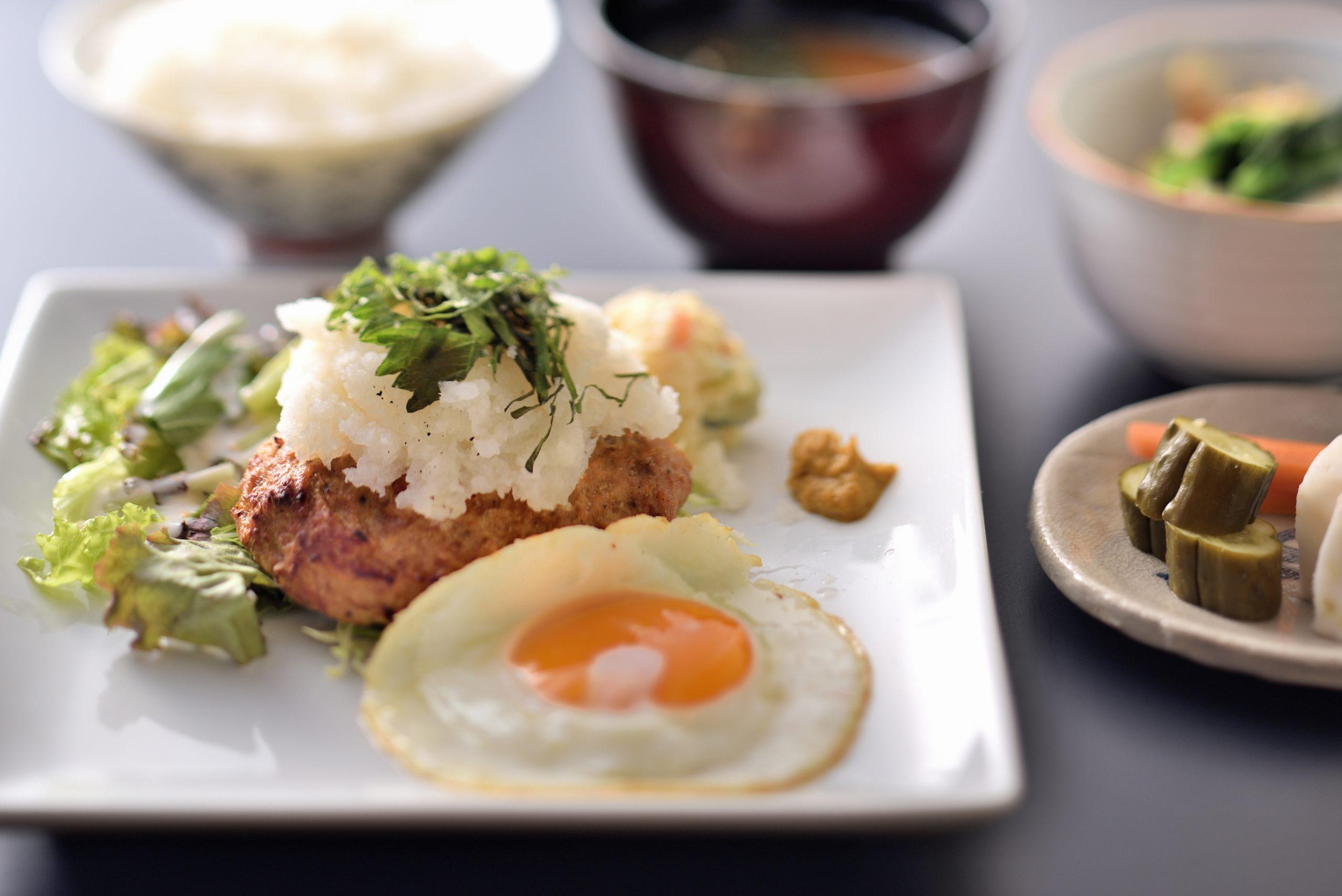 おろしハンバーグステーキ定食ー和食竹田